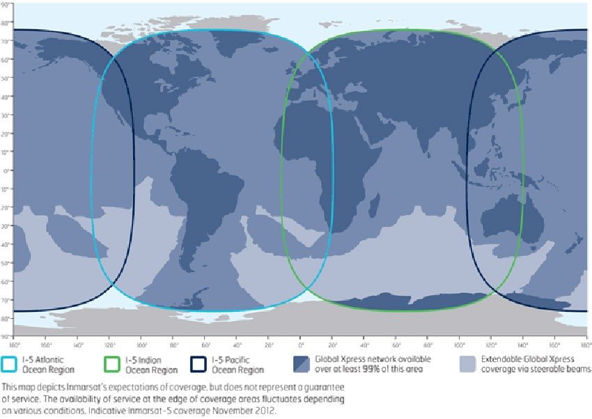 Inmarsat Global Express Coverage