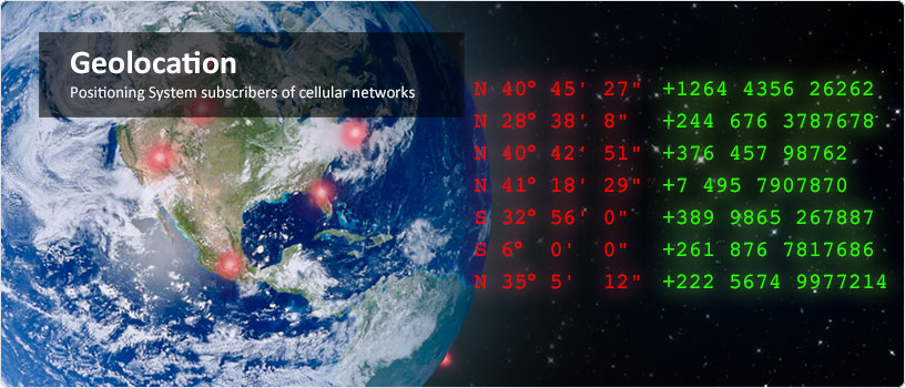 Geolocation. Positioning System subscriberes of cellular networks